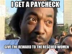 bubbleslayer:  (boost the signal) Charles Ramsey is a hero. He doesn't wear a suit of high-tech armor. He doesn't wear a cape. He's just an ordinary guy,living an ordinary life. Then, he saw a woman asking for help. And he helped her. He didn't walk away. He didn't think of himself. He just helped her. It took less than a day for someone to make this heroic man into a joke. As proud as Charles Ramsey makes me to be a human, those people make me ashamed. No, he doesn't speak perfectly. No, he didn't take the time to fix his hair before he went on camera. He's an African American man from an economically depressed neighborhood, city, and state. And for that, he's mocked and ridiculed. It breaks my heart. Now, in yet another heroic moment Mr. Ramsey's response to Anderson Cooper's inquiry about a possible reward Charles has proven he's truly worthy of the hero mantle. No, no, no. Bro, I'm a Christian, an American, and just like you. We bleed same blood, put our pants on the same way. It's just that you got to put that – being a coward, and I don't want to get in nobody's business. You got to put that away for a minute…I tell you what you do, give [the reward] to them. Because if folks been following this case since last night, you been following me since last night, you know I got a job anyway. Just went picked it up, paycheck. What that address say? […] 2203 Seymour. Where are them girls living? Right next door to this paycheck. So yes, take that reward and give it to—that little girl[.] Thank you Charles Ramsey.  Thank you.  The full interview w/ Anderson Cooper can be found here. http://ac360.blogs.cnn.com/?iref=allsearch