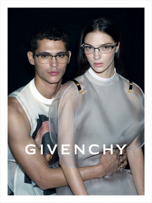 designscene:   Francisco Ken Peralta & Mariacarla Boscono for Givenchy Eyewear