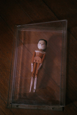 doll encased in a box on the floor on Flickr.