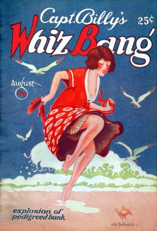 hoodoothatvoodoo:  Capt Billy's Whiz Bang 1924 Illustration by J. K. Martenstein