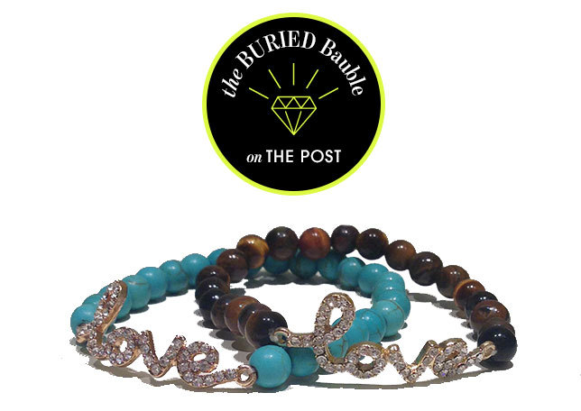 Snag this PRECIOUS LOVE BRACELET in Turquoise or Tiger Eye for only $10 and brace yourself for all the compliments you'll receive.