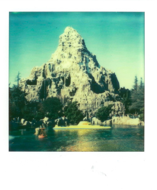 michellegustafson:  Matterhorn, Disneyland. Los Angeles, California Winter 2013. Polaroid 680 PX True Film.