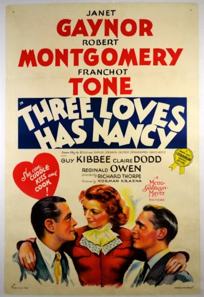 365 Day Movie Challenge - #111: Three Loves Has Nancy (1938) - dir. Richard Thorpe Sweet, slight comedy.