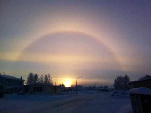Oh, certain slant of light. Oh, winter afternoons. Oh, sun dogs.  Image courtesy of Myles Dolphin