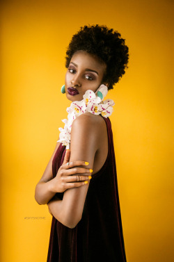 isamessiah:Vibrant colors, curls, and orchids.Model: Isa MessiahMakeup, styling, and photo by Brittani Sky Cheshure (@skycheshure)