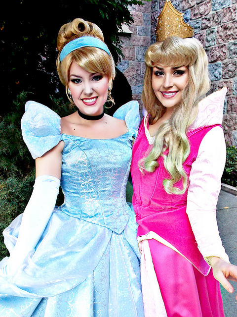mydisneyadventures:  Cinderella and Aurora on Flickr.