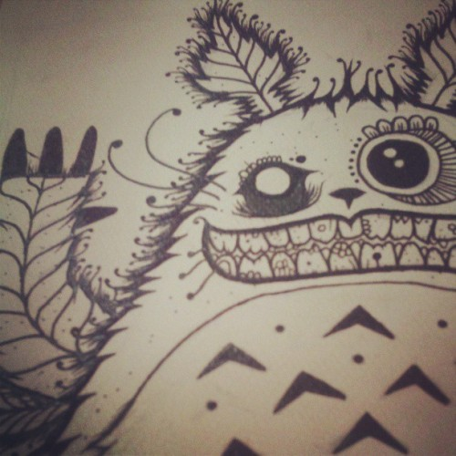 90% #wip #workinprogress #art #drawing #illustration #totoro #studioghibli