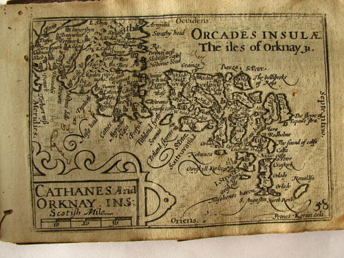perfectnonfreedom:  17th Century map of the Orkney Islands.