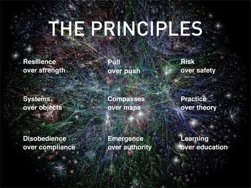 tomguarriello:  Joi Ito's nine principles for the 21st century, as discussed by Bruce Sterling and published by Boing Boing.