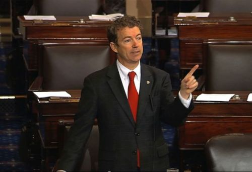 Kentucky Rep. Rand Paul took the floor of the Senate Wednesday and spoke for nearly 13 hours to block the confirmation of John Brennan as President Barack Obama's next CIA director.Thankfully the filibuster ended today.