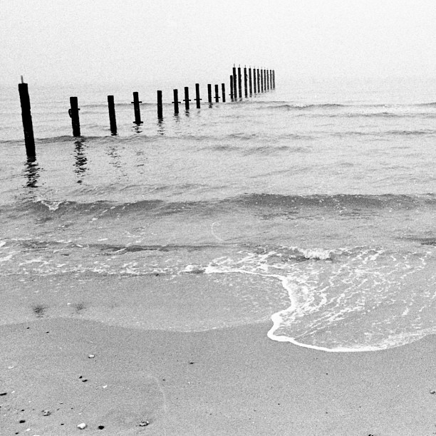#kuwait #fahaheel #beach #sea #bw #waves #fog #film #ladygrey #minolta
