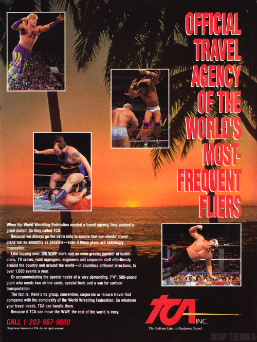World Wrestling Federation TCA Advert [May 1992] Fantastic ad with four of the biggest WWF stars of all time, and two jobbers that I do not recognize at all. Is anybody out there familiar with early 90's WWF enhancement talent?