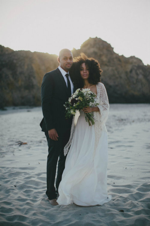 naturalblkgirlsrock:  Nikisha+Carl of UrbanBushBabes.com wedding album
