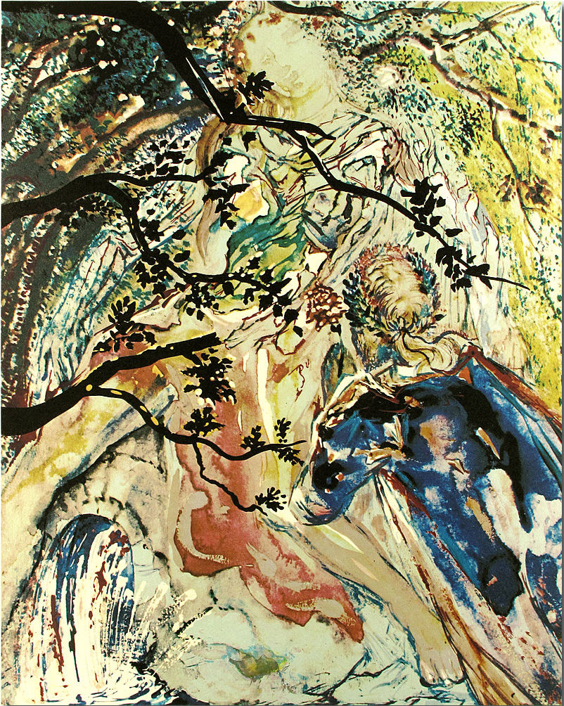 "Salvador Dali. Lancelot and Guinevere. ""Les amoureux suite""."