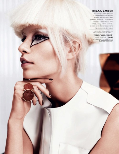 iowntherunway:  маленькая вера Aline Weber by Catherine Servel for Vogue Russia February 2013 See more from this set here