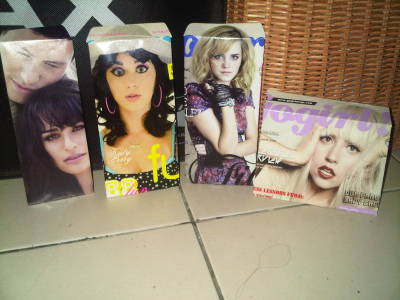 My attempt on making envelopes using magazine cover.. kinda fail. :p