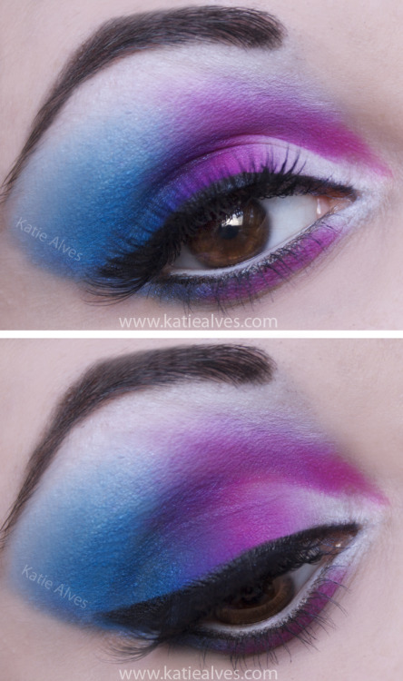 Playing with my new Sugarpill Cosmetics palettes! They're definitely fun! :D  I also used Lime Crime and BH Cosmetics