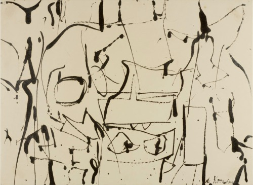 jonathonyork:  Willem de KooningBlack and White Abstraction, ca. 1950