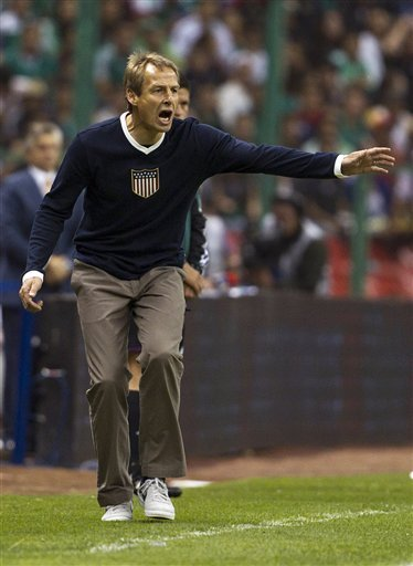 xiquarterly:  Can we get a grade on Jurgen Klinsmann's sweater from last night?  A+