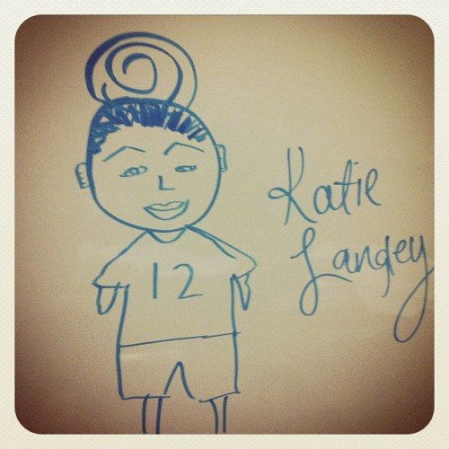 I @hey_its_san drew this #picture of Katie. She was being mean to me and I didn't appreciate it #aks2 #allknightstudy2 #tombrady #patriots #12 @zalalapa @kneeshaw94