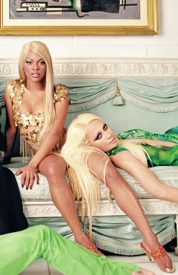 barbiefart:  Kim and Donatella Versace
