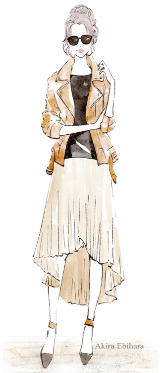 蛯原あきら イラスト イラストレーション イラストレーター ファッションイラスト fashion fashionillustration