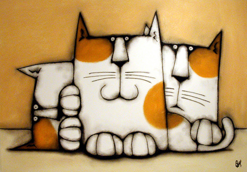 "Kits With Mitts - 28"" x 21"" pastel and charcoal on canvas - AVAILABLE Email me for prices"