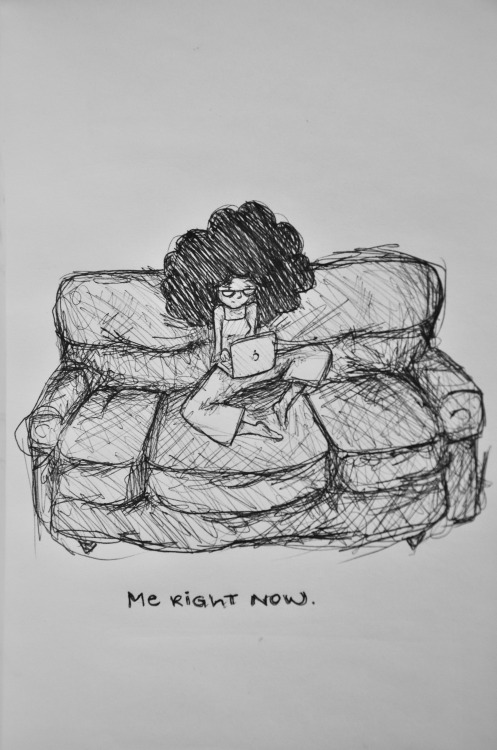 toyaw:  stage9:  Me right now. (pen on paper) By: Jade Thomas Diplán   Me all the time.