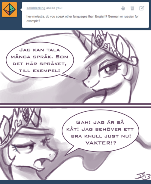 askprincessmolestia:  Ask Princess Molestia #316