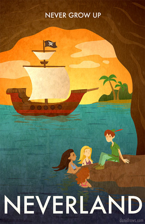 """Neverland Poster"" by Dani Jones"