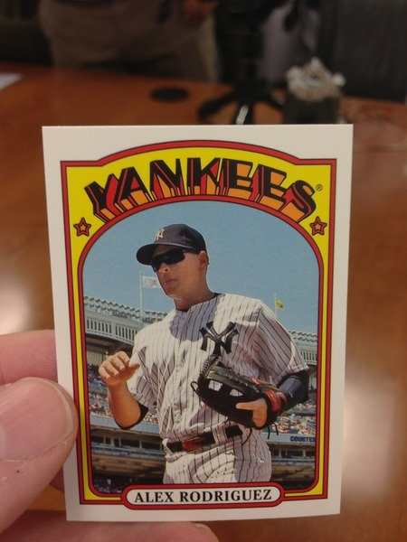 Inserts in @ToppsCards Series 1 Baseball: 1972 Minis. Alex Rodriguez (KeithOlbermann) on Mobypicture)