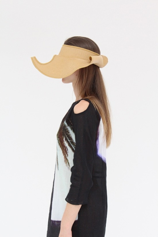 (via Peter Jensen Hat $220. Oval Cut Out Summer Hat At Beklina)