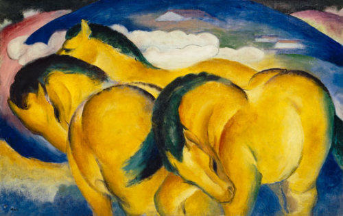 Franz Marc, Little Yellow Horses, 1912