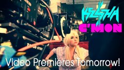 New Ke$ha video tomorrow!!