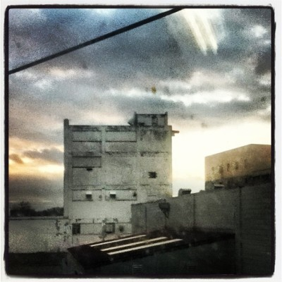 #city #dark #lockport #building #clouds #sky