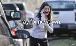 If you haven't heard, Newtown, Connecticut had a school shooting this morning. At an elementary school. This girl, is waiting to find out if her sister is still alive or not. There are reported 27 dead, 20 of them were children. The parents of these children are going to come home, look under their Christmas tree, and see all of those unwrapped presents. 27 families Christmas mornings will turn into funerals. I'm so sorry to everyone who was affected by this, and I don't know what makes people feel the need to be so cruel. Rest In Peace.