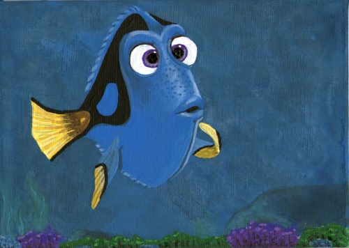 "Painting of Dory from ""Finding Nemo"""