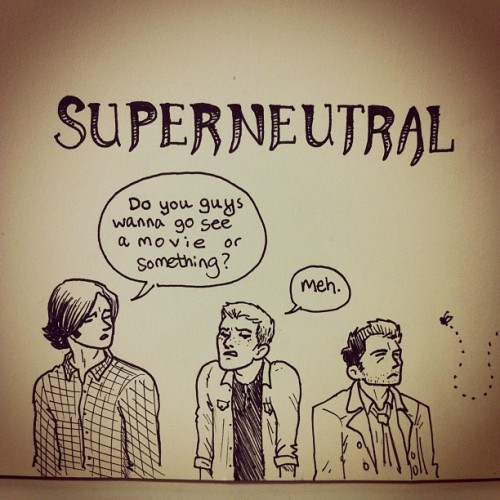 imgonnariverdance:  jackiemakescomics:  Superneutral   I was just going to scroll by but then I got the joke and burst out laughing