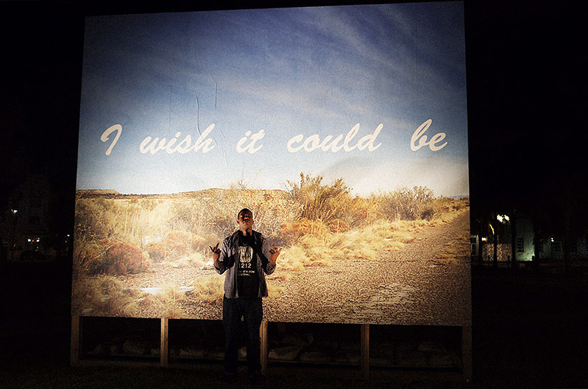 I wish it could be… morning all day long, 2012 — Gary Simmons Billboard installation by my friend and mentor Gary Simmons at Art Basel . Photographed by Andi Elloway.