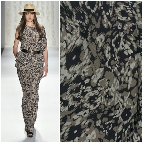 rachelzoe:  Close-up on Spring '13's chain link dot print