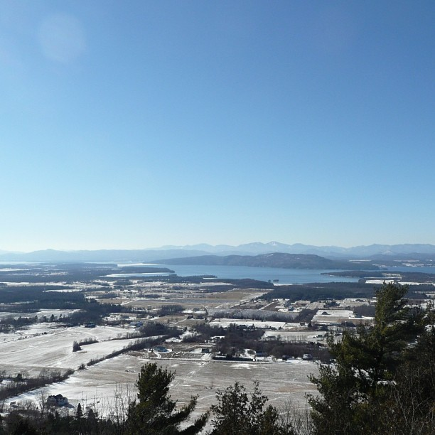 on a clear day you can see for miles (at Mt. Philo State Park)
