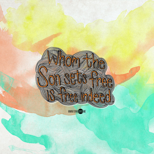 "New wallpaper! ""Whom the Son sets free is free indeed."" :) Am likely going to start phasing out certain desktop wallpaper sizes with the next update. Do let me know if I'm missing any or you think there's a wallpaper size that should be featured. Thanks!  Wallpaper sizes: Mobile: iPhone (640x1136) 