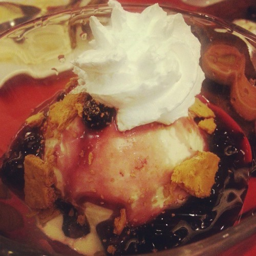 Blueberry sundae #desserts