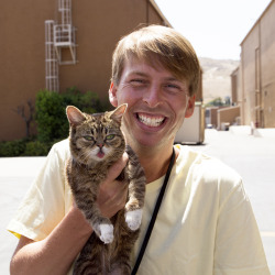 bublog:  Lil BUB and Jack McBrayer! Best combo ever.  GOOD JOB BUB. GOOD JOB KENNETH. Catch BUB and Jack and all the funniest comedians kicking off Comedy Week LIVE tonight on YouTube's The Big Live Comedy Show  at 8pm EST/5pm PST.  Just go to YouTube's home page, BUB will be there.