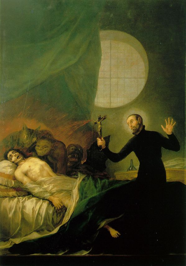 St Francis Borja at the Deathbed of an Impenitent by Goya