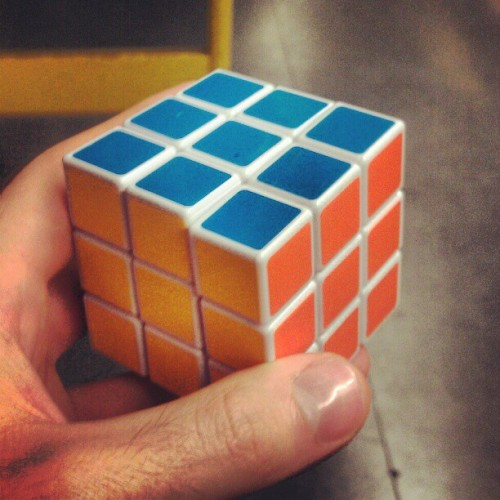 A fully solved rubix cube was bestowed upon me on the 96 tram this morning. It's a sign
