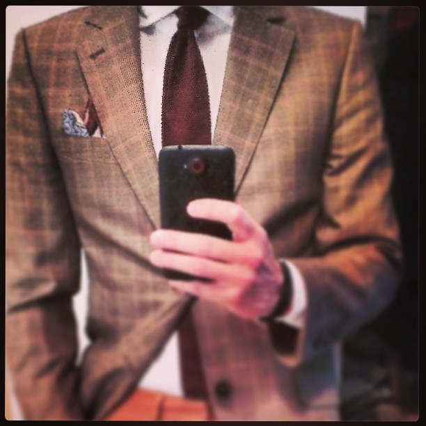 Chocolate Meeting kit. A sneak of today's #Wiwt #style #menswear #menswearhouse #mensfashion