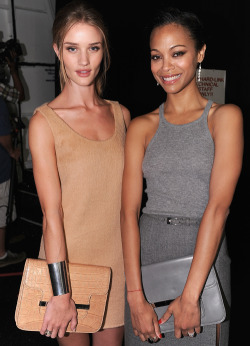 Rosie Huntington-Whiteley & Zoe Saldana  ♡♡♡