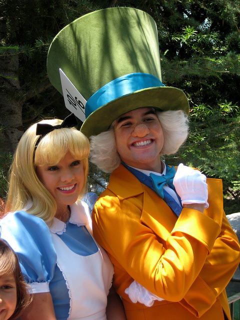 Alice and the Mad Hatter by briberry on Flickr.