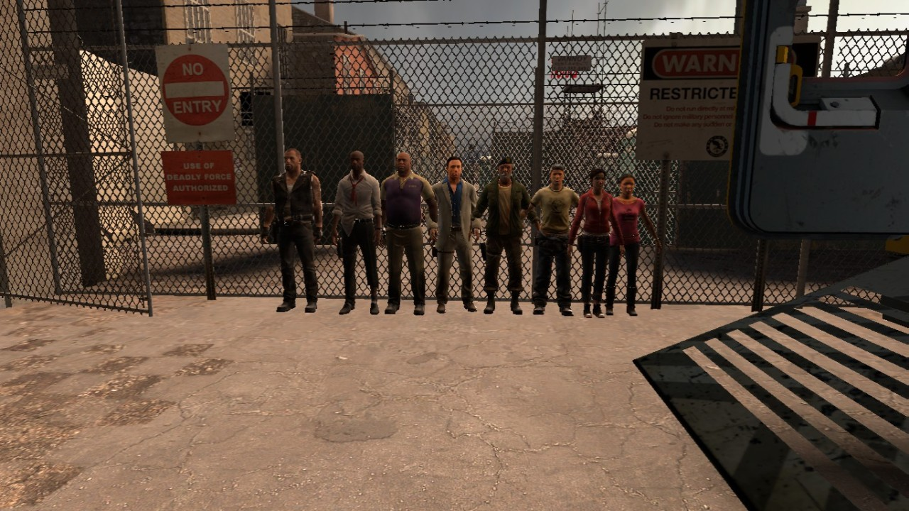 oppaisprinkles:  Thought I'd do a height comparison of the L4D1 and L4D2 survivors~